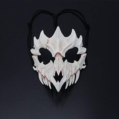 bloatboy ✅ Resin Horror Maske - Halloween Gesichtsmaske Cosplay Bar Performance Themenparty Maskerade Maske (A) (Joker Kostüm Gesicht Malen)