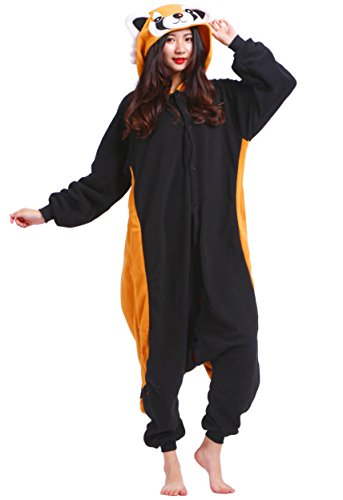 Unisexe Adulte Animal Cosplay Kigurumi Pyjama pour  ,panda rouge ,Large