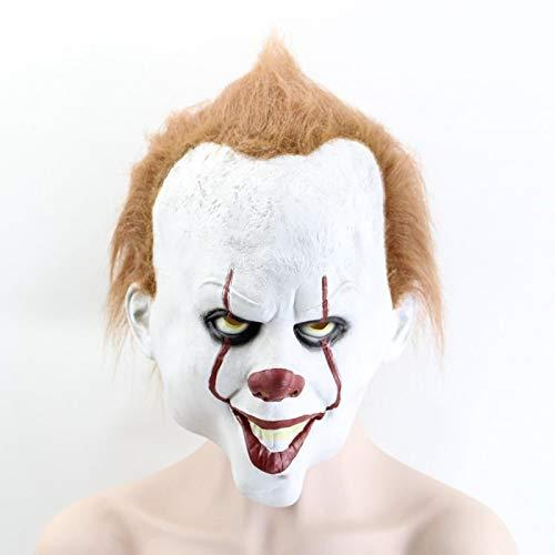 ing ist es 2 Joker Pennywise Maske Vollgesichts Horror Clown Latex Halloween Party Hoorible Masken Cosplay Prop ()