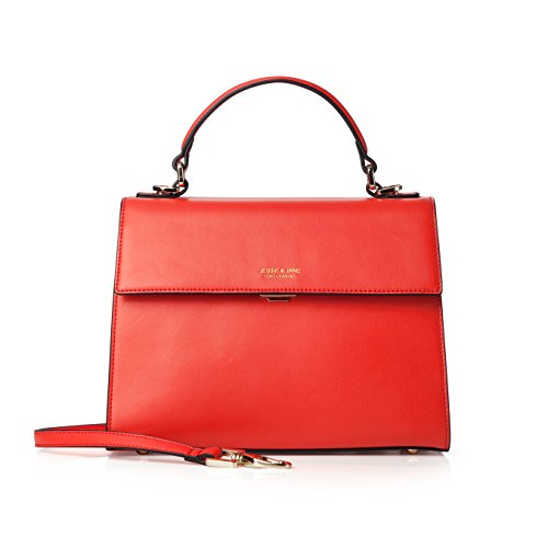 JESSIE & JANE, Borsa tote donna, Red (rosso) - TMJ16SF1262RD Red
