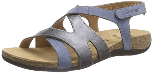 Ganter Giulia, Weite G, Sandales Multicolores Pour Femmes (multicolore (jeans / Anthrazit 3462))