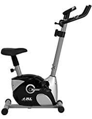 JLL® JF100 Home Exercise Bike, 2019 New Adjustable Magnetic Resistance Cardio Workout, 4kg Two-Way Flywheel, Display with Heart-Rate Sensor, Adjustable Handlebars & Seat Height, 12-Month Warranty