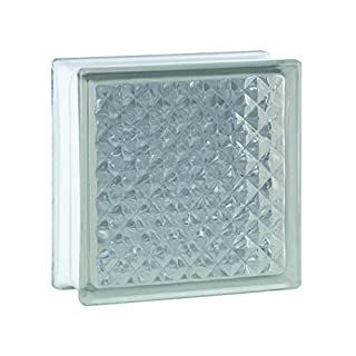 6 Stück BM Glassteine Inca SUPER White 19x19x8 Cm