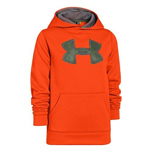 Under Armour Jungen Fitness - Sweatshirt AF Storm Big Logo Hoody Toxic Orange