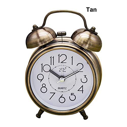 Lucky Family Timbre de Metal Despertador, Despertador silencioso Vintage 3 Pulgadas Retro Alarm Clock...