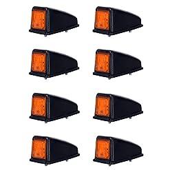 8x 3SMD LED arancio tetto luce di indicatore laterale 12V 24V e-contrassegnato auto camion rimorchio camper caravan Van luce di posizione set Amber Cab top universale