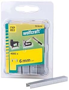 Wolfcraft 7016000 4000 Klammern breit, Stahl Typ 53 6 mm