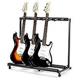 FOBUY 7-Wege-Gitarrenständer, für elektrische und akustische Bassgitarren