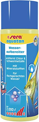 sera 03060 aquatan 500 ml - Leitungswasseraufbereiter (5ml auf 20 Liter) für allzeit fischgerechtes, sicheres und klares Wasser -