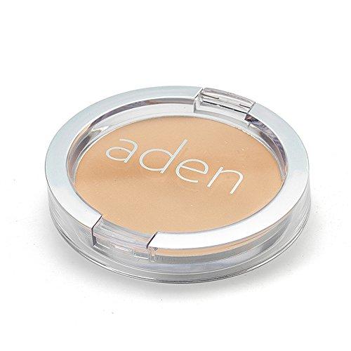 ADEN Face Compact Powder 02, Beige, 1er Pack -