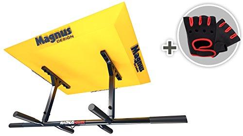 MAGNUS® POWER MP1024 Klimmzugstange - ORIGINAL - (Deckenmontage) 6 Griffweiten + Handschuhe + Halterung für Sling Trainer / Boxsack