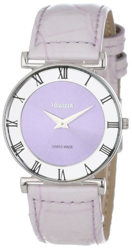 Jowissa Roma Pastell Women's Quartz Watch with Purple Dial Analogue Display and Purple Leather Strap J2.018.M