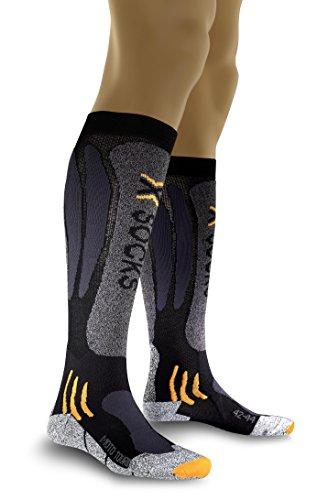 X-Socks Uni Funktionssocke Mototouring Long, black/anthracite, 42-44, X 20012 (Nylon-wolle-zehen-socken)