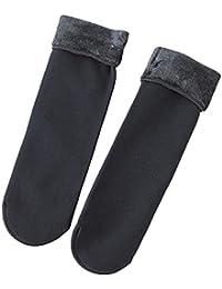 L-DiscountStore Cálido invierno mujer espesar calcetines suave forro polar forro medias