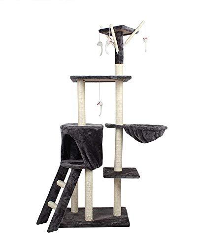 DAYUMAOJIN Große Fünf-Schicht-Multifunktions-Katze Klettergerüst Schleifkrallen Rest Recreation Center Sisal plüsch Holzsäulen Kratzbäume Turm, Fünf-Schicht-Kratzbäume -