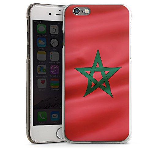Apple iPhone 5s Housse étui coque protection Maroc Drapeau Drapeau CasDur transparent