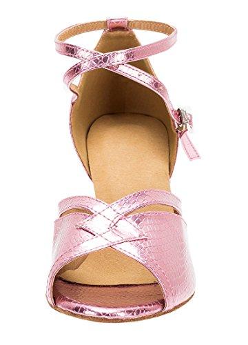 TDA ,  Damen Peep Toes 7cm Heel Pink