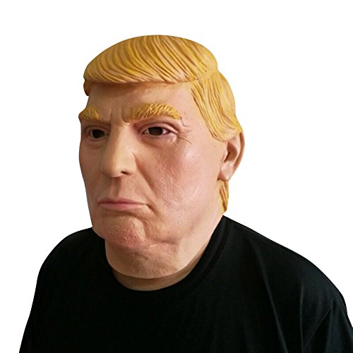 Donald Trump Mask - Perfetto per Carnevale e Halloween - Costume adulto - Lattice, Unisex Taglia unica