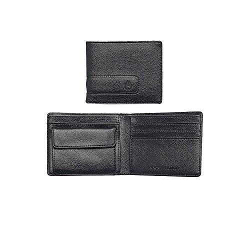 Nixon Showout Bi-Fold Snap Coin Wallet Münzbörse, Schwarz/Dark Gray -