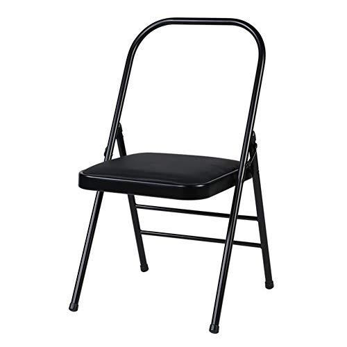 QIDI Chaise Pliante, Chaise de Yoga, Chaise de Salle à Manger, Chaise d'ordinateur, Chaise Longue, unité Centrale, Fer, Renfort Moderne à Double Faisceau d'épaisseur de Mur de 1,5 MM