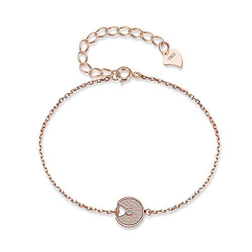 GUANHONG Damen Armband 925 Silber Rose Gold Edler Schmuck Koreanisches High Fashion Armband Sterling Silber Wild Silber Armband Geschenk für Mama