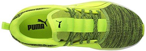 Puma Fierce Lace Knit Cuir Chaussure de Course Safety Yellow-Puma White