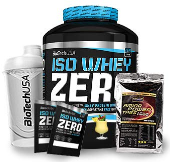 Zero (1 x 2.27 kg) + Shaker + 200 Amino Tabs 1600mg + Proben (Pina Colada) ()