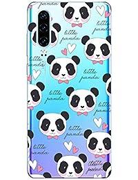 Oihxse Cristal Compatible con Huawei Honor 9i Funda Ultra-Delgado Silicona TPU Suave Protector Estuche Creativa Patrón Panda Protector Anti-Choque Carcasa Cover(Panda A8)