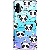 Oihxse Cristal Compatible con Huawei P9 Lite 2017 Funda Ultra-Delgado Silicona TPU Suave Protector Estuche Creativa Patrón Panda Protector Anti-Choque Carcasa Cover(Panda A8)