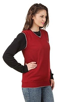 eprilla Women's Woollen Blend Red Sweater