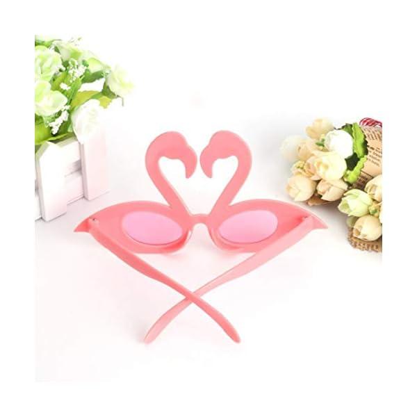 Hado Elegante, 1 pieza Flamingo anteojos de sol flamingo playa novedad decoraciones de fiesta boda decoración hawaiana… 3