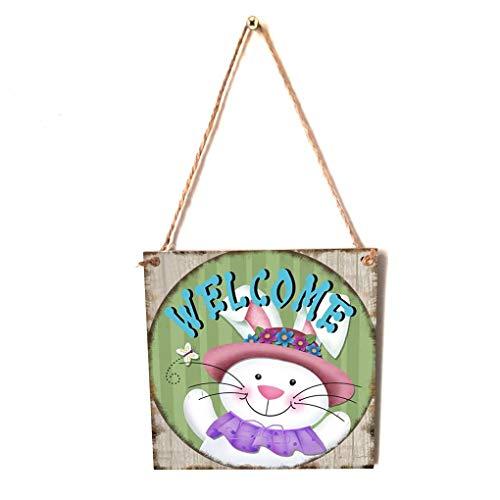 y Easter Hängekarton Festival Wand-Tür-Dekoration Teller Home Shop Anmelden Hanger ()