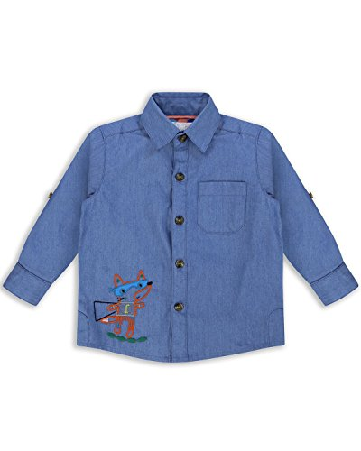 The Essential One - Boys Kids Long Sleeve Denim Shirt - Finley Fox - 4-5 Yrs - Blue - EOT244