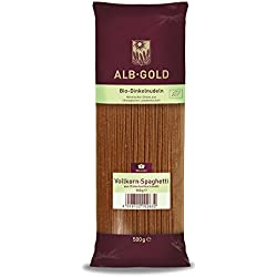 Alb-Gold Dinkel-Vollkorn- Spaghetti, 5er Pack (5 x 500 g Packung) - Bio