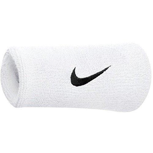 Nike Swoosh Bandeau de Transpiration en Tissu éponge Lot de 2 Blanc Weiß,Schwarz Taille Unique