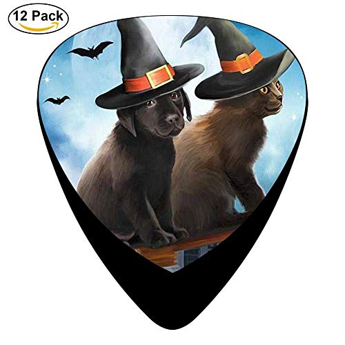 Celluloid Guitar Picks For Mandolin Guitar,Print Halloween Dog Cat,12 Pack (Kiss Halloween Band)