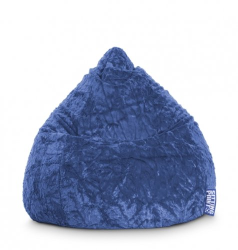 SITTING POINT only by MAGMA Sitzsack Fluffy L ca. 120 Liter blau (bis ca. 7 Jahre)
