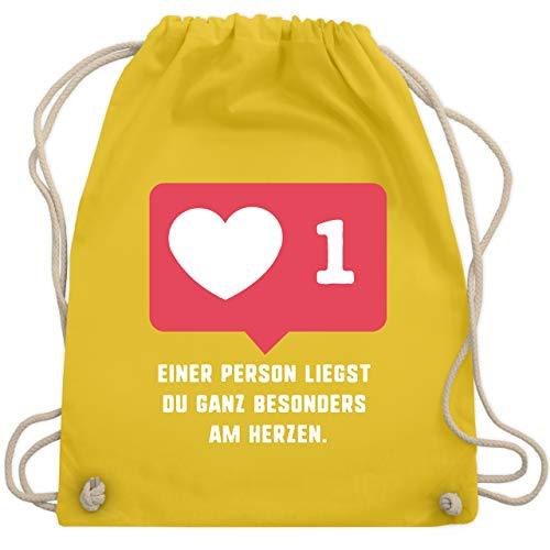 Valentinstag - Einer Person liegst du ganz besonders am Herzen. - Unisize - Gelb - WM110 - Turnbeutel & Gym Bag - Valentine Kostüm Kinder