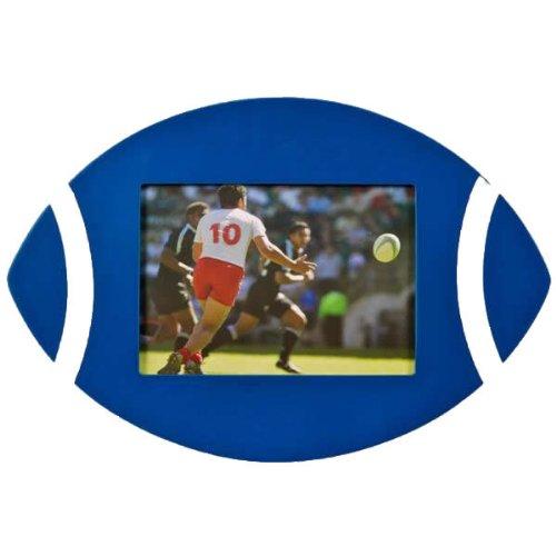Ballon de Rugby-Cadre Photo-Bleu/blanc