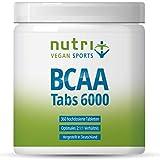 BCAA TABLETTEN 2:1:1 vegan - 360 Mega Tabs à 1000mg - HÖCHSTE DOSIERUNG - essentielle Aminosäuren - BCAAs ohne Magnesiumstearat - Premiumqualität aus Deutschland - Nutri-Plus Aminos