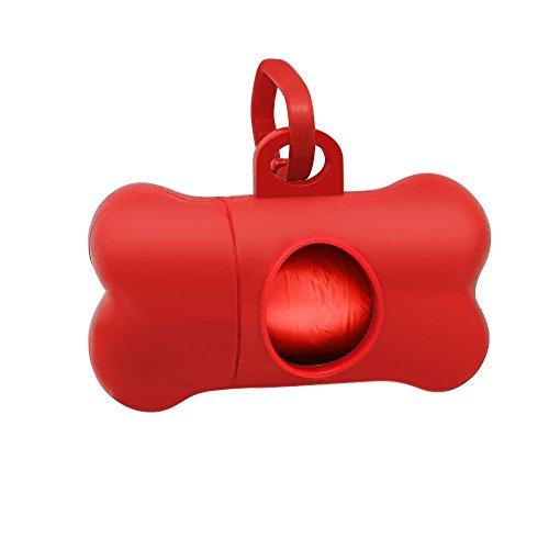 winstory Knochen Hund Katze Poo Kotbeutelspender mit Tasche Scoop Refill Doggy Kotbeutel Carrier Clip -