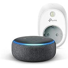 Echo Dot (3ª generazione) - Tessuto antracite +TP-Link HS100 Presa intelligente Wi-Fi, compatibile con Alexa