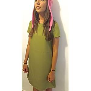 GSet: Cosplay Pink Bunny Hat + Grünes Kleid - Louise Belcher – Bob's Burgers