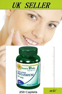 Chelated Potassium 99 mg / 250 Caplets regulate the body's water balance by puritan's pride