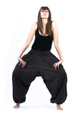 Fantazia-Harem Hose Trouser noat nepalais aladin sarwel-Baumwolle Schwarz - Schwarz