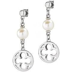 Idea Regalo - Morellato - Orecchini ad anello da donna in acciaio inox, argento ducale saaz11