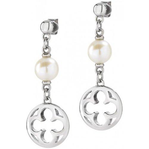 Morellato - orecchini ad anello da donna in acciaio inox, argento ducale saaz11
