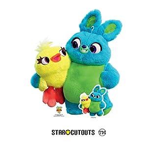 Star Cutouts SC1364 Bunny and Ducky 4 - Figura decorativa de cartón (85 cm), diseño de conejito y pato, multicolor