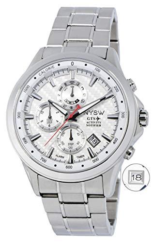 NYSW   La mayoría de Relojes Inteligentes híbridos de Lujo – Día mecánico – Cristal de Zafiro – Impresionante Segunda Mano y más (TC-NY-MH-07-W)