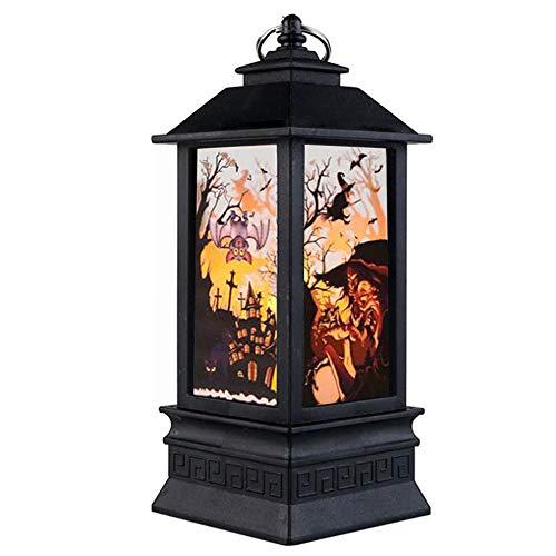 lymty Halloween-Flammen-Licht, LED-Laterne Halloween-Lampenkerzenlicht für hängende Laterneninnenlampe der Hauptweinlese-Retro- Dekoration im Freien -